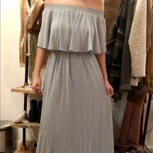 Powder Blue Off-the-shoulder Dress